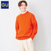 GU 极优 男装柔软羊仔毛混纺圆领针织衫羊毛衫优衣库姐妹品牌328357