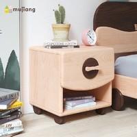 木匠生活儿童床头柜卡通斗柜储物柜创意实木收纳柜女孩儿童房家具