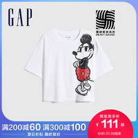 Gap女装纯棉短袖782773夏季2021新款短款印花T恤