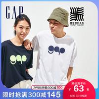 Gap男女装情侣潮流纯棉短袖T恤732678夏季2021新款