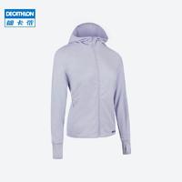 迪卡侬防晒衣女春季防紫外线外套长袖防晒服户外透气运动风衣RUNW 杜若蓝 40