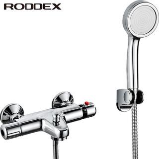 RODDEX 劳达斯(RODDEX)智能恒温简易花洒套装 淋浴卫浴浴缸浴室全铜冷热混水阀花洒套装 恒温下出水主体+增压手喷