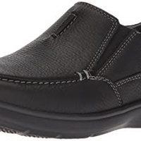 Clarks 男士 Cotrell Free 乐福鞋 Black Oily Leather
