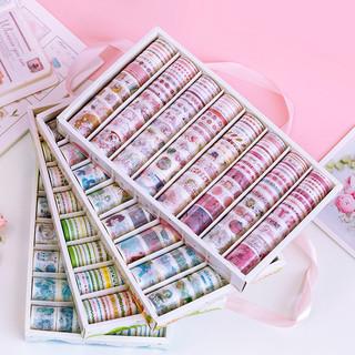 Yu Xian 语闲 手帐胶带贴纸古风人物和纸胶带可爱彩色印花初学者diy手账素材大礼包套装小清新少女心ins卡通120个便宜