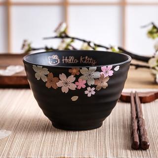 Hello Kitty 凯蒂猫 日式樱花螺纹陶瓷碗 4.5英寸(单个装)