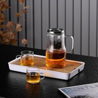 pinztea PINZTEA 玻璃内胆飘逸杯 泡茶壶 茶水分离 600mL