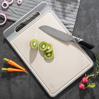 MAXCOOK 美厨 maxcook)砧板菜板案板 塑料抗菌不易发霉水果板切菜板 曲面谷纤维砧板 37*25*0.8cm MCWA969