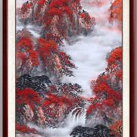 尚得堂 吕元忠 《鸿运当头》手绘国画山水画 85x165cm