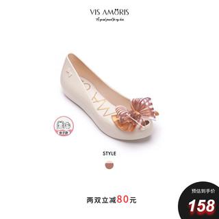 Vis Amoris 允莫苏 英国Visamoris允莫苏2021春夏包头平底多色蝴蝶结女浅口凉果冻鞋
