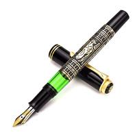百利金 德国进口Pelikan M900 Todelo金雕18K金尖钢笔 EF尖