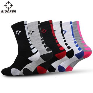 RIGORER 准者 篮球袜子 中筒专业男女运动棉袜防臭跑步透气精英袜高筒防滑