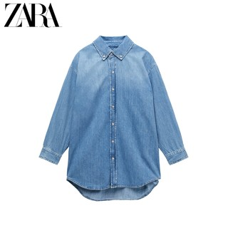 ZARA [折扣季] 女装 宽松牛仔衬衫 06045055400
