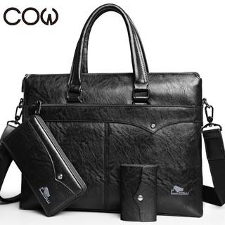 COW 法国COW男包 男士商务休闲复古手提包