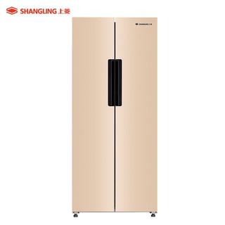 SHANGLING 上菱 401升对开门冰箱 一级能效 风冷无霜 双变频节能 大容量双开门电冰箱 BCD-401WSVYD玫瑰金