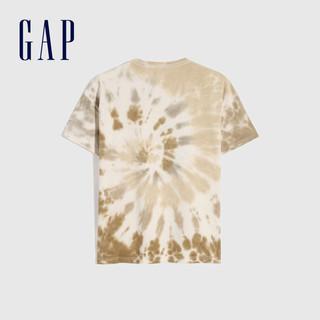 Gap 盖璞 儿童扎染纯棉短袖T恤