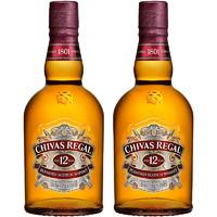 CHIVAS 芝华士 进口洋酒 英国 吴亦凡版芝华士(Chivas)12年 苏格兰 调和调配 威士忌调酒40%vol 芝华士500ml双瓶