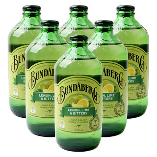 BUNDABERG 宾得宝 澳州原装进口 宾得宝(Bundaberg)含气青柠汁饮料375ml*6玻璃瓶装 汽水饮料饮品