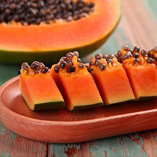 品赞 新鲜云南红心木瓜 现摘当季牛奶瓜生鲜水果冰糖甜整箱青木瓜