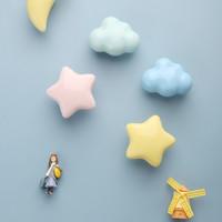 原创设计云朵拉手儿童房衣柜门家具橱柜子抽屉单孔小把手北欧简约