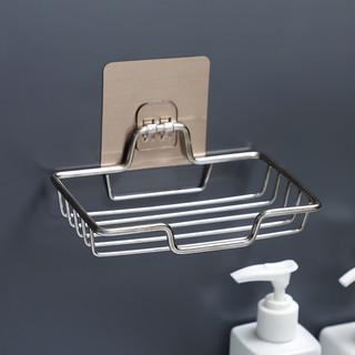 GINIX 鲸意 浴室免钉不锈钢沥水皂架