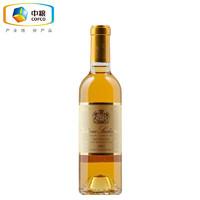 法国进口红酒 1855列级庄苏玳一级庄 旭金堡贵腐甜白葡萄酒 2002年正牌 375ML