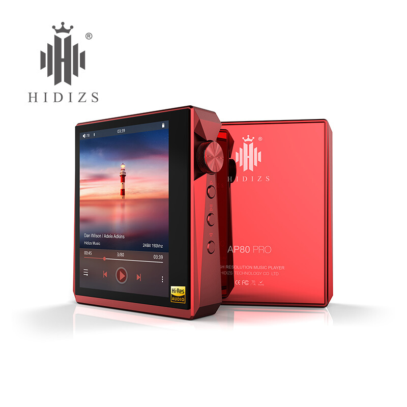 Hidizs 海帝思发烧级HIFI音乐播放器DSD平衡口硬解AP80pro无损便携学生运动迷你MP3 炫彩红