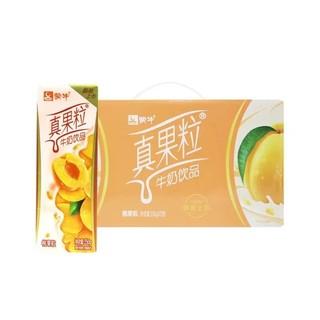 蒙牛真果粒草莓/黄桃/芦荟250g*12盒热销乳饮料整箱