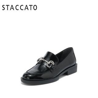 STACCATO 思加图 [定制小码32/大码42胖瘦脚]思加图2021春乐福单鞋女皮鞋9UL44AA1A