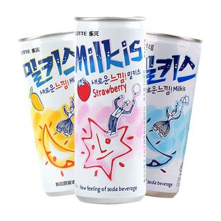 LOTTE 乐天 牛奶味苏打汽水 250ml*9罐