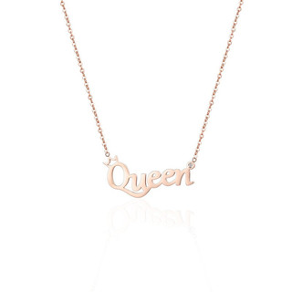 StarEye 星眸 天然真钻石项链罗马数字时光 钻石项链-字母Queen-合金