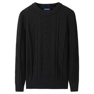 JEANSWEST 真维斯 毛衣男秋冬季新款纯色圆领针织衫韩版潮流宽松打底线衫外套