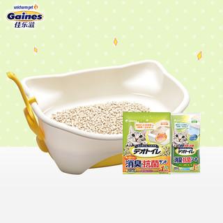 Gaines 佳乐滋 日本进口 佳乐滋(Gaines)双层猫砂盆套装/猫厕所 幼猫/MINI猫适用 干湿分离