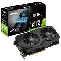 ASUS 华硕 GTX1050Ti/1660S/RTX2060显卡super电脑游戏组装台式机独显 DUAL-RTX2060-O6G-EVO