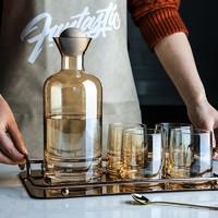 舍里高档丹麦冷水壶套装家用耐热高温玻璃扎壶果汁杯茶壶水杯套装