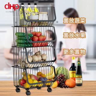 DHP置物架厨房用品置物架收纳架置物架落地多层蔬菜水果篮家用