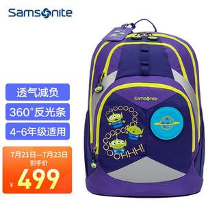 Samsonite 新秀丽 儿童书包小学生男女孩背包双肩包轻便大容量 迪士尼 紫色