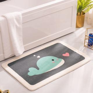 XingLiheng 浴室卫生间厨房门口吸水防滑脚垫 40CM*60CM(无毛-一条装)