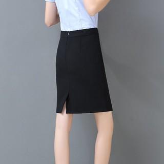 春夏职业裙黑色包裙包臀工装半身裙西装高腰一步裙女西裙正装短裙