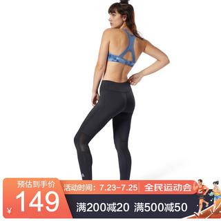 Reebok 锐步 运动健身RUN TIGHT女子休闲紧身裤 CY4696_黑色 XXS