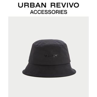 URBAN REVIVO 2021春夏新品男士配件时尚个性渔夫帽AM20BA4N2001 正黑 F
