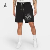 Jordan官方男子针织短裤新款夏季经典运动裤印花休闲DA7211