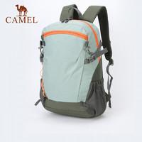 CAMEL 骆驼 双肩包大容量书包男女大学生户外徒步登山包轻便休闲旅行背包 青碧色,18L 大容量,轻量透气