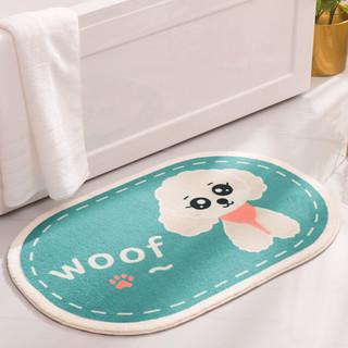 XingLiheng 浴室卫生间厨房门口吸水防水防滑脚垫可擦洗 40CM*60CM(无毛-一条装)