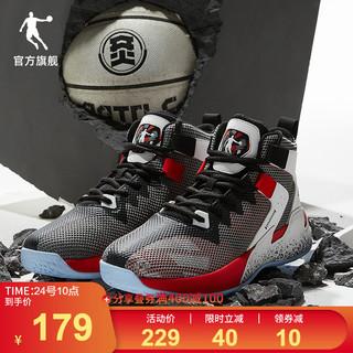 QIAODAN 乔丹 篮球鞋男鞋运动鞋2021夏季新款男士网面透气球鞋防滑减震战靴