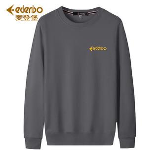 Edenbo/爱登堡刺绣圆领卫衣男士春季新款长袖T恤男外套大码上衣服