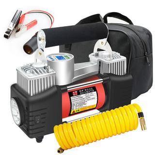 巨木 车载充气泵汽车用打气泵12V便携式小轿车电动轮胎加打气筒+手提包+电瓶夹+延长管