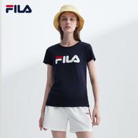 FILA 斐乐 官方旗舰店官网女子短袖T恤2021夏季运动T恤女纯棉T恤女