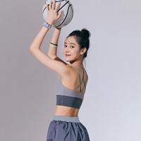 SYLPHLIKE LOLI 暴走的萝莉 运动内衣女防震跑步防下垂专业健身瑜伽运动美背文胸 LLWX03061 鲨鱼灰