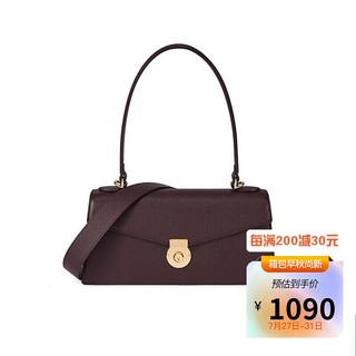 DISSONA 迪桑娜 手提包女包2021法棍包单肩包斜挎包包时尚腋下包 82040106041400 酒红色