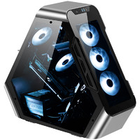 JONSBO 乔思伯 TR03-G ATX机箱 全侧透 银色